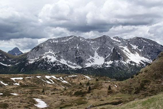 Blick nach Süden zum Monte Zermula