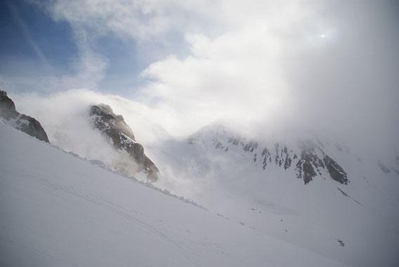 Wolkenstimmung rund um den Elferspitz