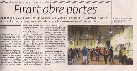 Inauguració de la 29a edició a la capellà de Sant Joan. Vilafranca del Penedès.