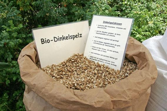 Bio-Dinkelspreu - Bio-Dinkelspelz  - Dinkelkissen - Biodinkelspreu - BioDinkelspelz - welches Dinkelspelz nimmt man für Kissen