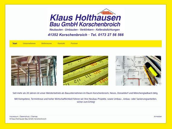 Klaus Holthausen Bau GmbH | Erstellt mit Jimdo