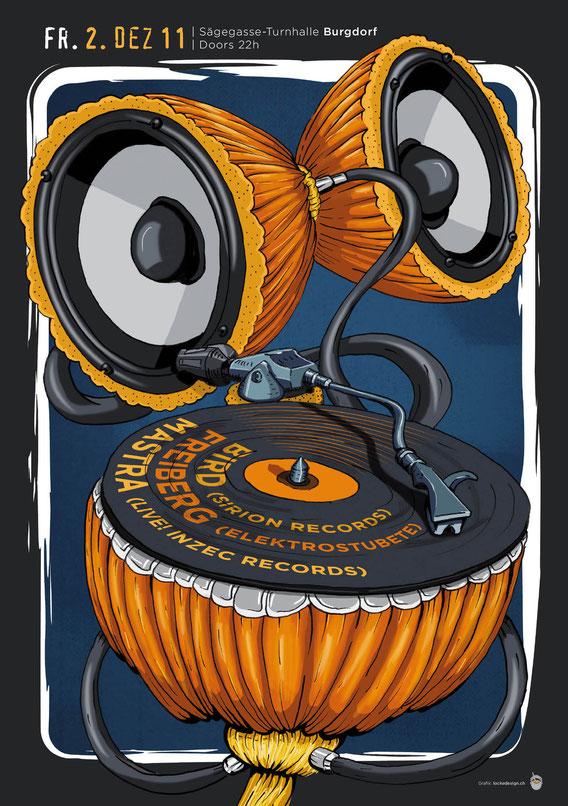 Plakat Gestaltung: Konzert | Konzept, Illustration und Grafik by Lockedesign 2011