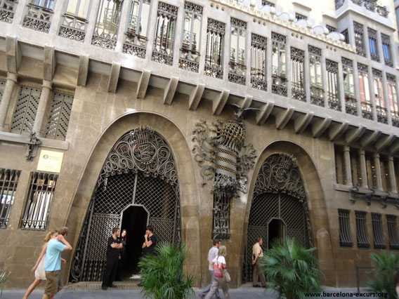 Гауди, дворец Гуэля