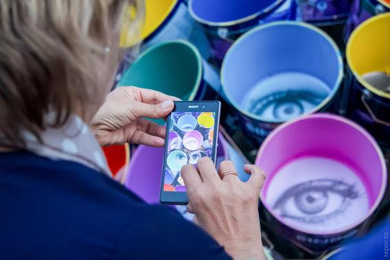 око, очі, гогольфест дмитрук, дмитрук інсталяція, глаза арт, искусство украина, глядачі гогольфест