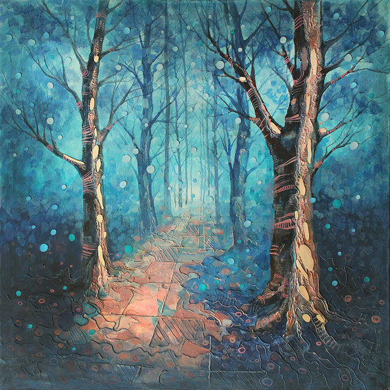 dmytuk,dmitruk,art,painting,dmytrukart,художник,живопис,картина,уккраинский художник,икона,лес,ліс,forest,blue,snow art,snow forest art