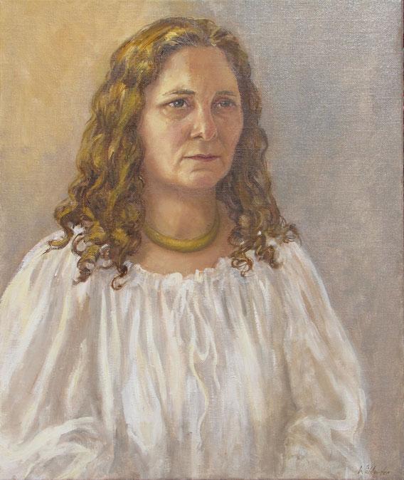 Tony Wahlander (Wåhlander) peint aussi de nombreux portraits, ici celui de Agnés