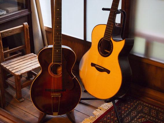 今回使用したギター。gibson L-3 (1927年) nishiharaguitar No.17 写真提供 藤井様