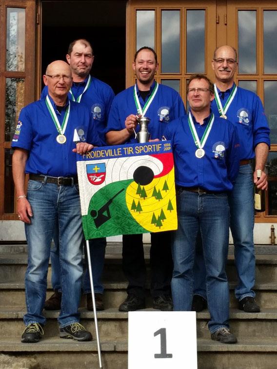 Photo des Champions Vaudois en groupe catégorie A (carabines standards)