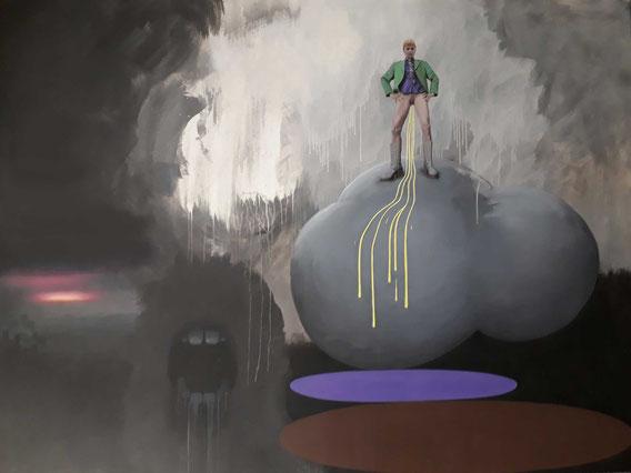 'Neoliberal Surrealist' Acryl auf Leinwand, 240cm x 180cm, 2019