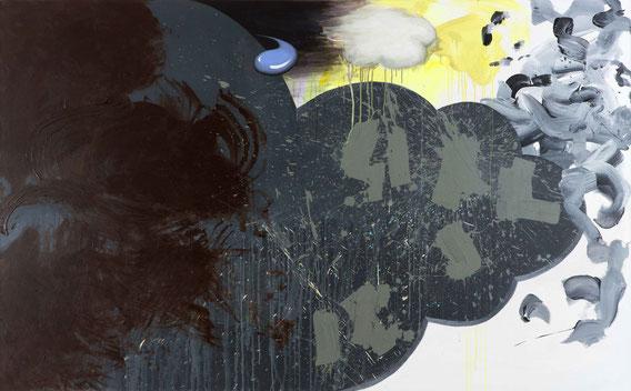 'Fiscal Stimulus Faltering'  acrylic on canvas, 2m40x1m50, 2014