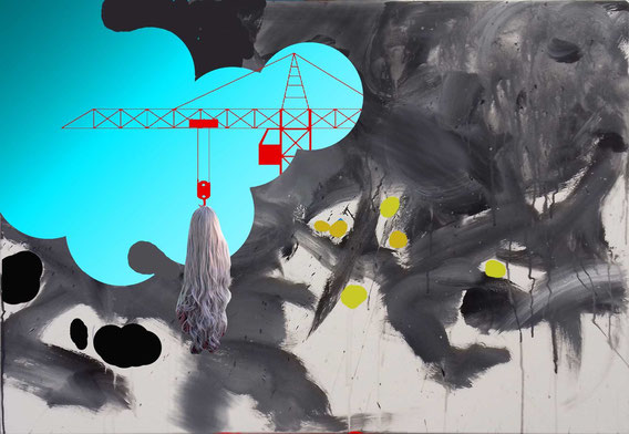 'Collateral Assets' Acryl auf Leinwand, 70cm x 100cm, 2019