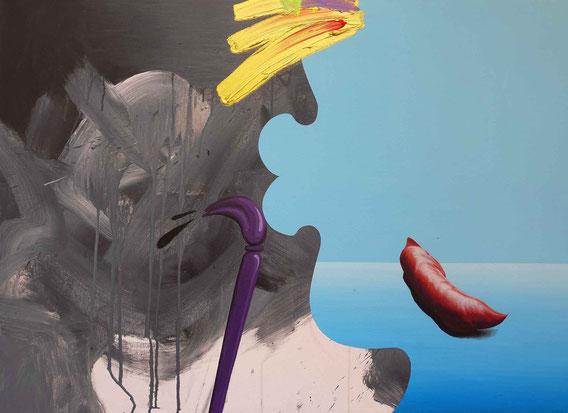 'Painter' Acryl auf Leinwand, 70cm x 100cm, 2019