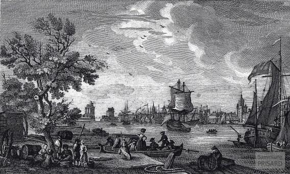 IMA.18.010 Hafen von La Rochelle (Kupferstich, um 1780) / © Sammlung PRISARD