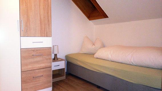 Schlafbereich in unserem gr. Einzelzimmer-Apartment