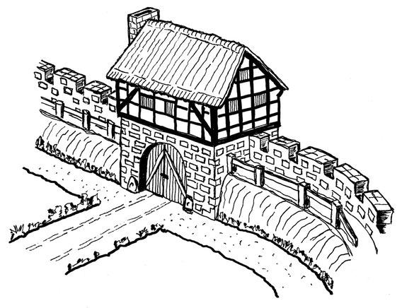 Mögliche Ansicht eines mittelalterlichen Mettmanner Stadttores