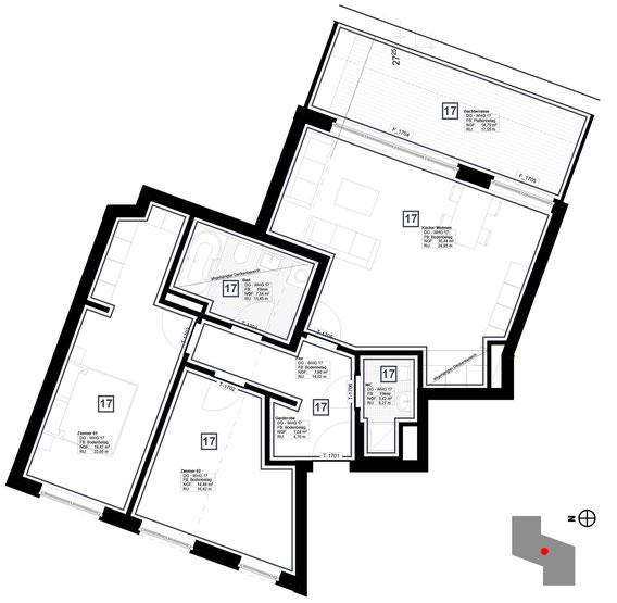 Grundriss Wohnung 17 (zum Vergrößern anklicken)
