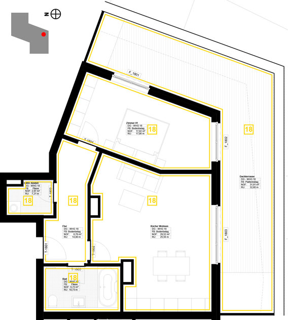 Grundriss Wohnung 18 (zum Vergrößern anklicken)