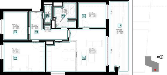 Grundriss Wohnung 19 (zum Vergrößern anklicken)