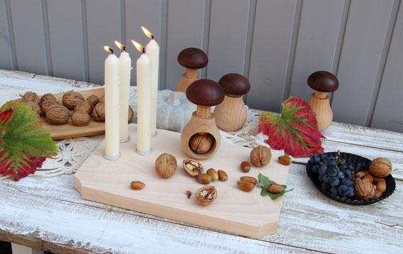 minimalistisch weihnachten, adventskranz holz, andventsgesteck holz, diy weihnachten advent,