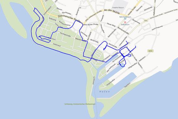 GPS-Track Büsum vom Geocachen ;) (8,8km)