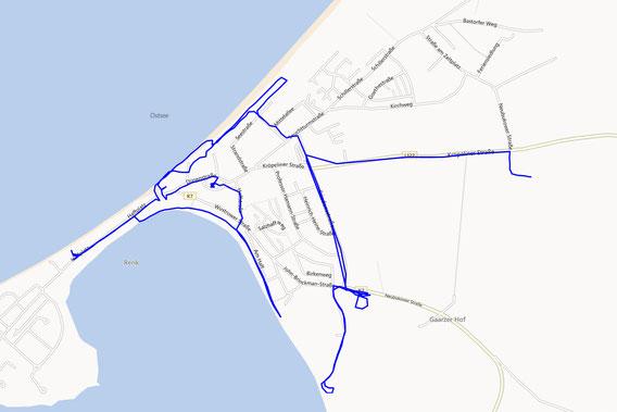 GPS-Track Rerik vom Geocachen (7,0km)