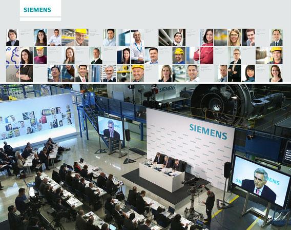 Großformatige Bilderwand auf der Jahrespressekonferenz am 08. November 2012 in Berlin