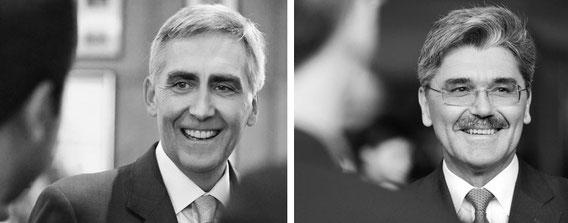 Peter Löscher - Vorsitzender des Vorstands der Siemens AG und Joe Kaeser - Mitglied des Vorstands der Siemens AG