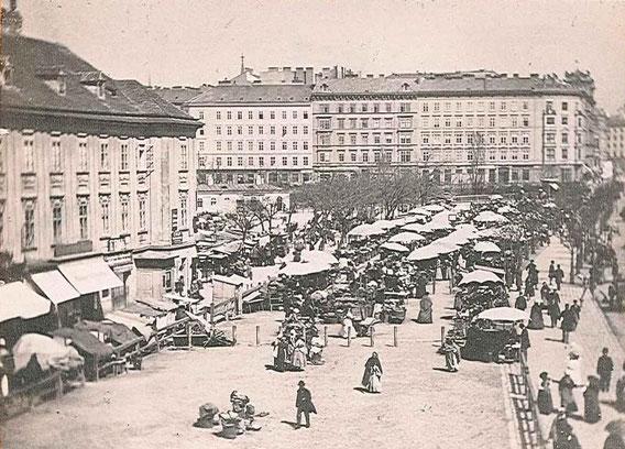 Wien, Obstmarkt, um 1880