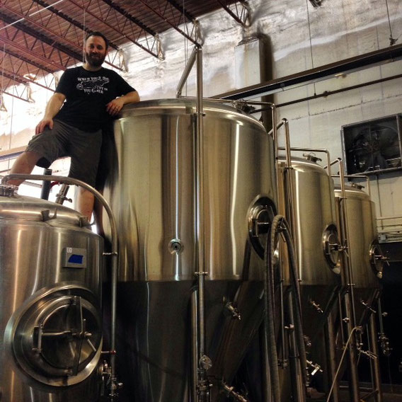 Drew with our new fermentors