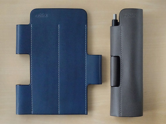 Lim Pen Sleeve Euro Kip / Lake Blue / Storm Gray