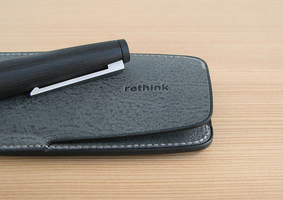 Lim Pen Sheath Duo Nappa Nebbia