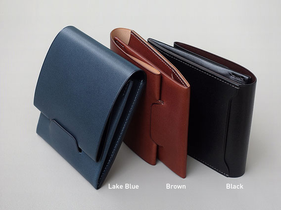 Lim Wallet Euro Kip / Lake Blue / Brown / Storm Gray