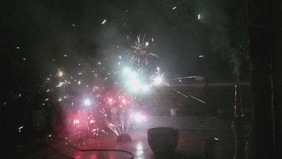 Feuerwerk auf unserer Dachterasse :D