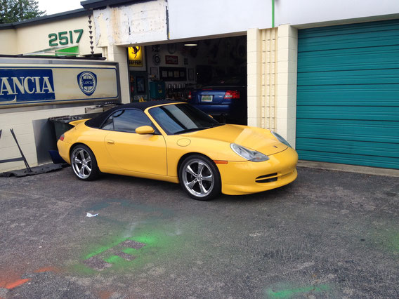 NEWEST MEMBER TO FAMILY --- 2000 PORSCHE 911 NUMBER 59 --- MAN IS IT YELLOW --- BEAUTIFUL ! ! !