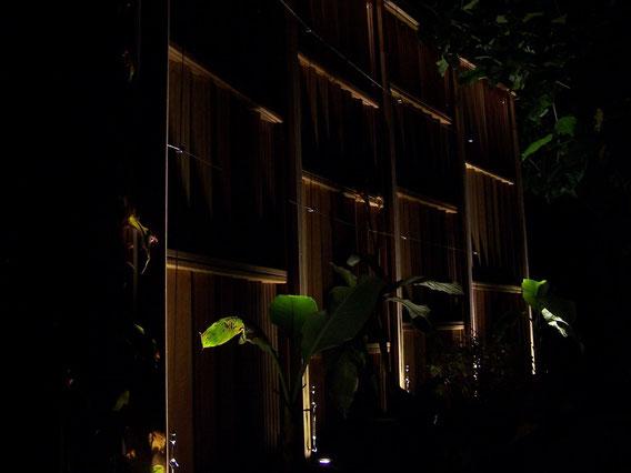 Sichtschutz bei Nacht