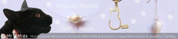 Felices Fiestas con Joyas de diseño en plata y personalizadas con pelo de tu gato, perro u otro animal, MiMiga