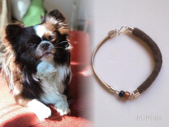 artistic-pet-hair-jewel-mi-miga-bracelet-leather-sterling-silver-crystal-elements-dog-duque