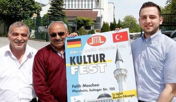 Freuen sich auf viele Besucher: Osman Sahin, Basri Okumus und Halil Sahin (von links).