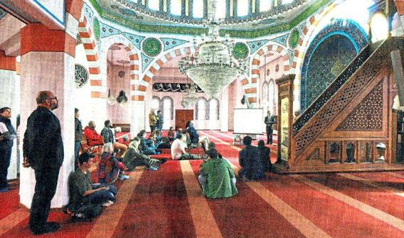 Einblicke in die Moscheen erhierlten Besucher aller Religionen gestern etwa in der Fatih Moschee in Pforzheim.