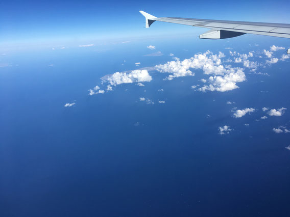 Flying over the ocean