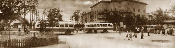 КРАСНОГОРСК. Улица Пионерская.  Фото 1957г.