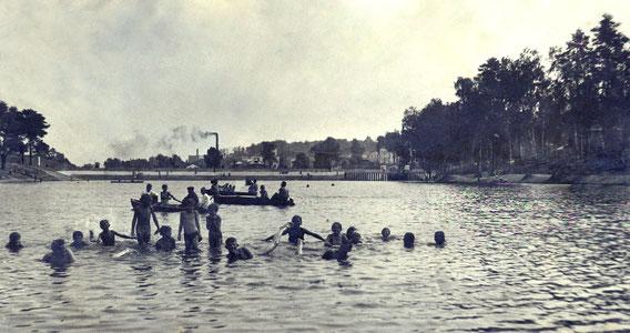 КРАСНОГОРСК. На плотине. 1940г.