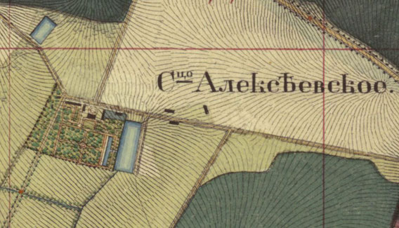 План усадьбы на карте 1838 г.