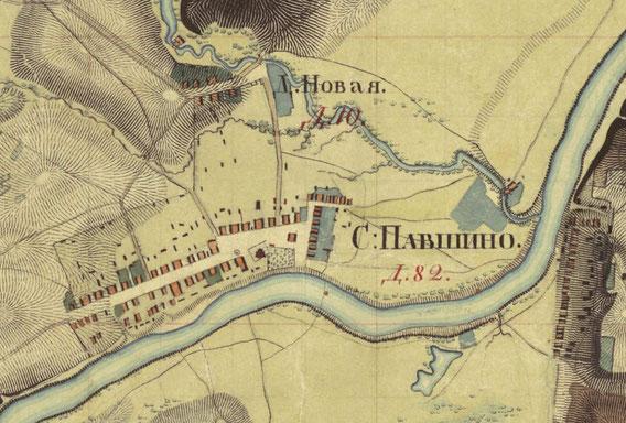Карта Военно-топографического депо. 1838 г.