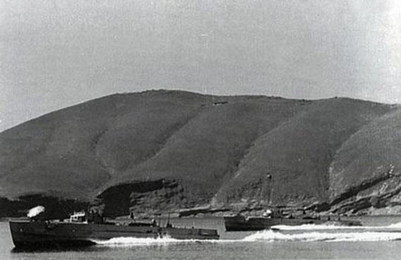 """S-Boote des Typs """"S 151"""" in der Adria - Bild: aus Connelly/Krakow: Schnellboot in Action"""