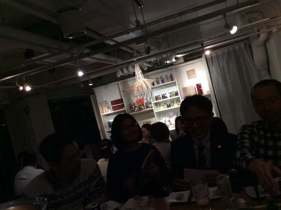 あるパーティーで。広島からお土産にいただいた大きな干しダコ。このあとタコ飯に