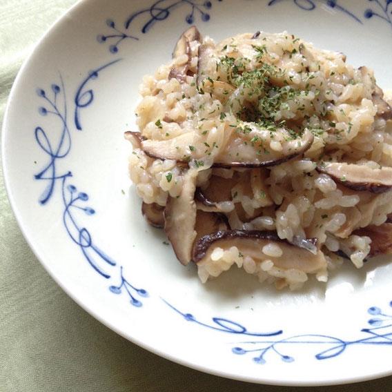干し椎茸とチーズのリゾット