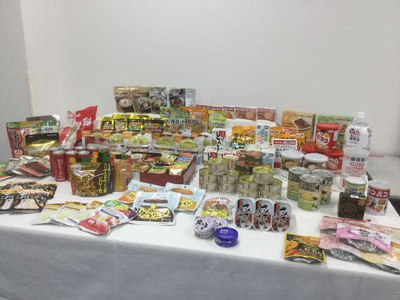 非常食として使えるであろう、いろいろな商品が展示されていました