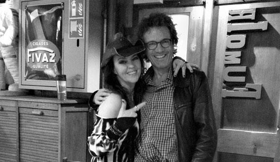 """... mit Stacie Collins, Blues'n'Rock'n'Country-Sängerin und """"Harp Chick"""" aus Nashville; Mühle Hunziken 2016 (www.staciecollins.com)"""