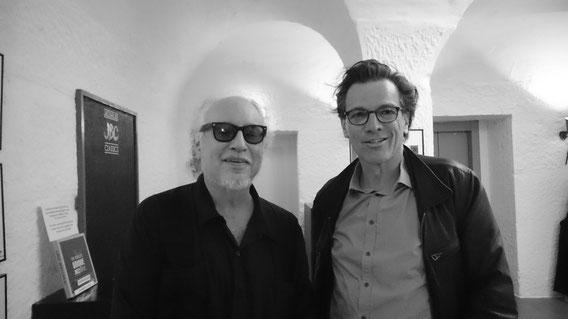 """... mit Bob """"Steady Rollin'"""" Margolin, grandioser Blues-Gitarrist, u.a. als Begleitmusiker des legendären Muddy Waters; Marian's, Bern, 2015 (www.bobmargolin.com)"""